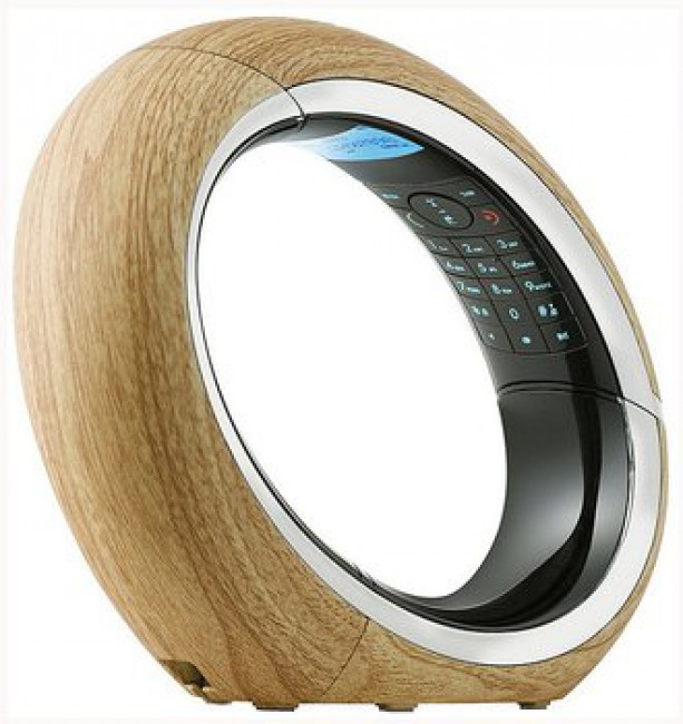 design dect schnurloses telefon schnurlos mit anrufbeantworter aeg eclipse holz ebay. Black Bedroom Furniture Sets. Home Design Ideas