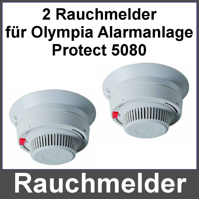 2er set funk rauchmelder feuermelder feueralarm f r alarmanlage olympia 5080 neu ebay. Black Bedroom Furniture Sets. Home Design Ideas