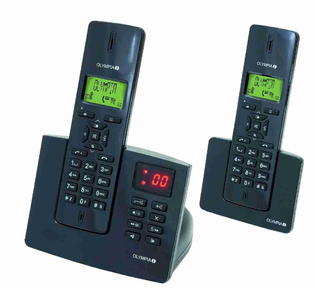 design schnurloses telefon schnurlos 2 mobilteile mit. Black Bedroom Furniture Sets. Home Design Ideas