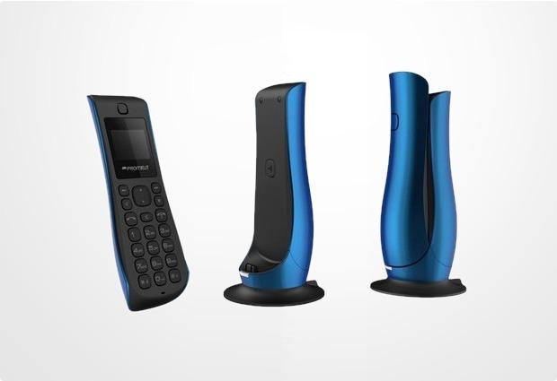 design eco dect schnurloses telefon schnurlos tulpe blau. Black Bedroom Furniture Sets. Home Design Ideas
